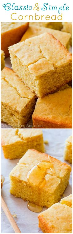 This is my favorite recipe for cornbread! Crunchy edges, moist interior, TONS of flavor!