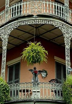 Wrought iron balcony in the French Quarter - New Orleans, Louisiana, U.S | by Susie Hoffpauir