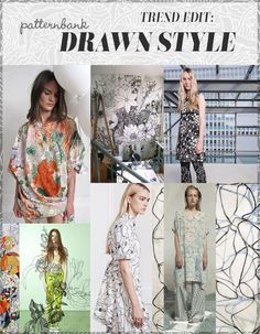 Trend Edit: Drawn Style A/W 2016/17 – LOOSELY DRAWN / 2 COLOUR PRINTS / NEUTRAL TONES / DETAILED AREAS / FINE LINE