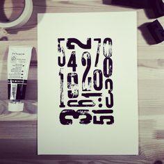 wood type print. johanna astrén.