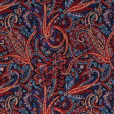 Recycled crepe satin red paisley print Paisley Print, Recycling, Red, Threading, Upcycle