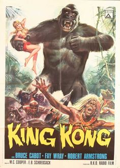 Vintage+Movie+Posters | Killer Vintage King Kong Movie PostersAll Things Illustration and ...