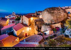 Portugal - Monsanto - Stunning Medieval Mountaintop Portuguese village at Dusk - Twilight - Blue Hour - Night by  Lucie Debelkova / http://ift.tt/16wNTM2