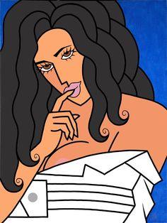 """SABOR A TI (En Negro)""   Acrylic on canvas, 48"" X 36""   **Available as a limited edition giclee on canvas**"