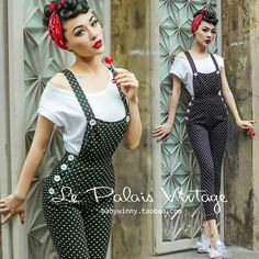 Ideas vintage outfits rockabilly style pin up for 2019 Pin Up Vintage, Pin Up Retro, Look Retro, Moda Vintage, 50s Vintage, Dress Vintage, 50s Outfits, Pin Up Outfits, Vintage Outfits