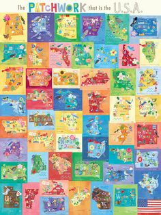 The Patchwork That is The USA Canvas Art