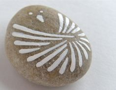 bird - painted stone - Etsy.