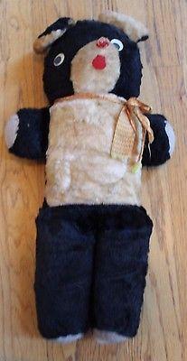 Rare-Antique-Vintage-Black-White-Teddy-Bear-Stuffed-Animal-Plush-22