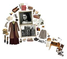 """""""Anne Frank"""" by silentmoonchild ❤ liked on Polyvore featuring Paul Frank, Conair, Fountain, Freda, Holtkoetter, CÉLINE, Toast, Polder, INC International Concepts and F-Troupe"""