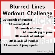 Blurred Lines Workout One Song Workouts, Workout Songs, Fun Workouts, At Home Workouts, Song Workout Challenge, Group Workouts, Kickboxing Workout, Squat Workout, Workout Men