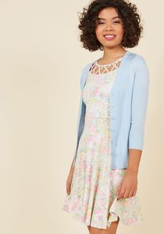 Charter School Cardigan in Frost. Show your style smarts in this versatile cardigan! #blue #modcloth