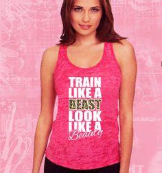 Train like a beast GYM CustomTANK TOP