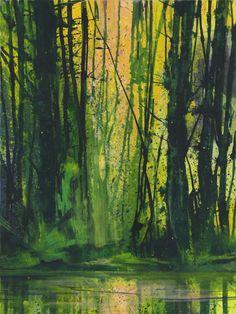 "Bernd Winter Room - ""Reflection. Alder "", 2010/12, acrylic / canvas, 200 x 150 cm"