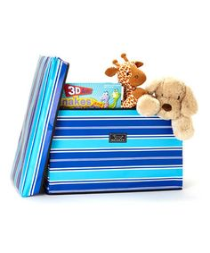 Take a look at this Crew Blue Stripe Collapsible Storage Bench by Scout by Bungalow on #zulily today! $35 !!