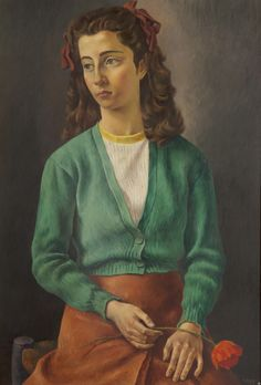 Antonio Berni Argentine), Lily, Oil on canvas, 100 x 70 cm. American Modern, American Art, Best Portraits, Italian Painters, Sweater Jacket, Modern Art, Lily, Collection, Jumpers