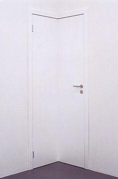 Elmgreen & Dragset. Powerless Structures, Fig. 129 (Corner door), Installation.