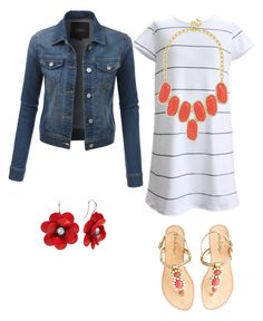 Coral Kryptonite by balletlover11 on Polyvore featuring polyvore, LE3NO, Lilly Pulitzer, BaubleBar, fashion, style and clothing