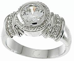 1 Carat Solitaire Deco Engagement Ring