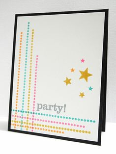 July 2013 Party! - strips of paper instead