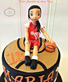 basketball girl cake - by nectarcupcakes @ CakesDecor.com - cake decorating website