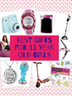 The best gift ideas for 11 year old girls including arts and crafts sets, jewelry, games, books, electronic gifts and lots more.