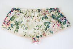 Sleep Shorts  Vintage Bedsheet Range  Style G by LunaSolis on Etsy, $35.00