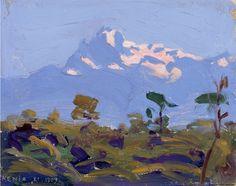 Mount Kenya - Akseli Gallen-Kallela, Oil on canvas Mountain Art, Mountain Landscape, Mount Kenya, National Gallery, Mombasa, Vintage Artwork, Edvard Munch, Nairobi, Bastille