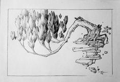 Floating tree, pencil sketch #ady wicaksono