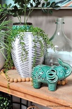 Easy way to makeover thrift store vase into super cool boho home decor.