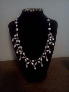 Kimberly's graduation necklace. Made without a pattern or inspiration.