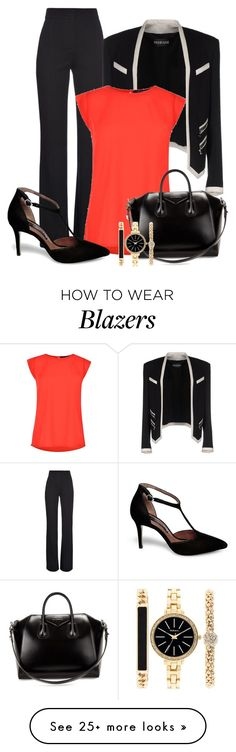 """Professional Wardrobe for All Ages Outfit: 19"" by vanessa-bohlmann on Polyvore featuring Derek Lam, Balmain, French Connection, Steve Madden, Givenchy and Style & Co."