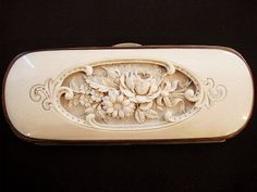 Beautiful needlework tool case. ~ Wow, so pretty.