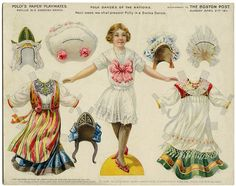 Antique paper doll is from The Boston Herald Sunday supplement in 1911