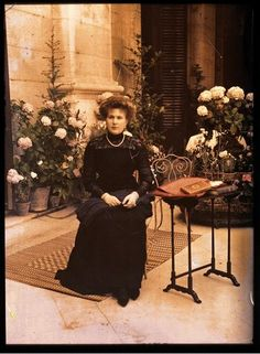 Autochromes of Queen Victoria Eugenia of Spain by Chusseau-Flaviens. 1910  Courtesy of the Musee d´Orsay.