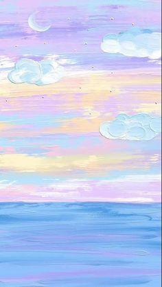 Cute Pastel Wallpaper, Soft Wallpaper, Cute Patterns Wallpaper, Iphone Background Wallpaper, Painting Wallpaper, Aesthetic Pastel Wallpaper, Scenery Wallpaper, Kawaii Wallpaper, Cartoon Wallpaper