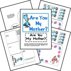 Here is a FREE Are You My Mother Lapbook. This pack focuses on the story as well as teaches letters and numbers. Preschool Books, Free Preschool, Preschool Curriculum, Preschool Learning, Toddler Preschool, Preschool Activities, Homeschooling, Preschool Education, Learning Time