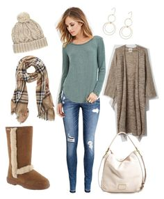 """Ready for Fall with the Bearpaw Eskimo boot!"" by bearpawstyle on Polyvore featuring H&M, Forever 21, Style & Co. and Marc by Marc Jacobs"