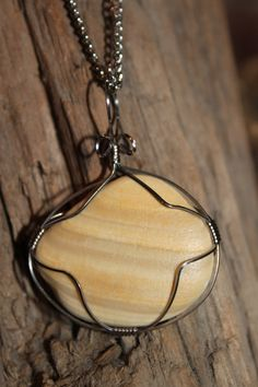 Handmade Wire Wrapped Shell Necklace Reversible by SolShellsOnline, $30.00