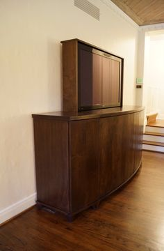 Automated TV-Lift Cabinet made in the USA by Matukewicz Furniture Company