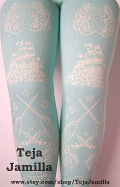Pirate Printed Tights!