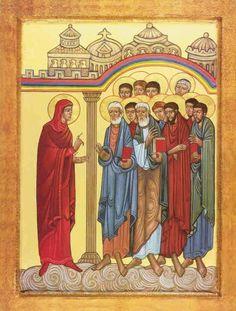 Marie-Madeleine annonce la résurrection aux Apôtres (icône orthodoxe)