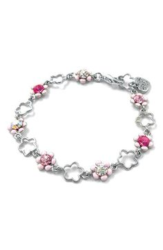 Free shipping and returns on CHARM IT!® lower Charm Bracelet (Girls) at Nordstrom.com. A bejeweled chain of flower-shaped links and glittery blossoms forms a sweet bracelet that's ready for a jingly collection of clip-on charms.