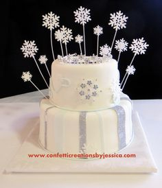 Winter Wonderland, Sweet 16 cake, birthday cakes, cakes with glitter and bling