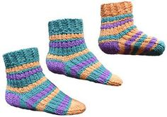 Knitting Patterns Galore - Stripey Baby - Kids Socks