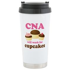 CNA Insulated Stainless Steel Travel Mug is an amazing nursing Christmas Gift.  Cute stocking stuffer for a Certified Nursing Assistant!
