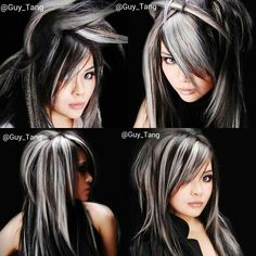 throwback to 2007. I use to love creating these chunks of color. My model MiMi also love the #emo look. Although I love this color at the time it was impossible to retouch without hurting the hair.