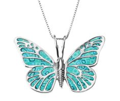 Butterfly turquoise necklace by Adina Plastelina