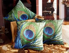 Modern decorative high quality Velvet throw pillow by WhooplaArt, $19.99
