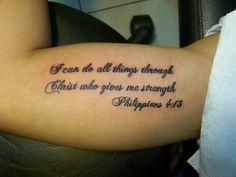 philippians 4 13 tattoo on arm - Google Search