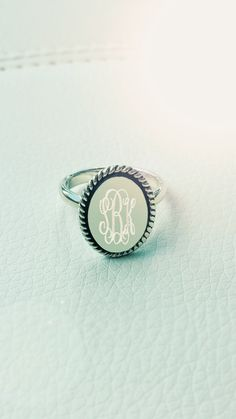 This beautiful Monogrammed Olivia Ring from Marleylilly.com is a STEAL, y'all! It's on SALE for $19.99 and there are only a few sizes left, so get yours today!